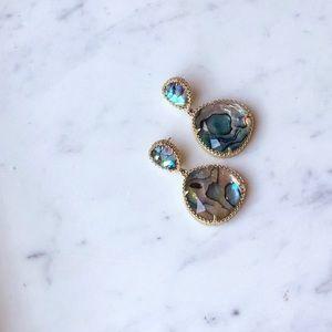 NWOT Kendra Scott Penny Abalone Shell Earrings